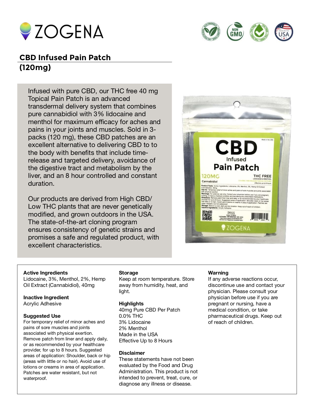 Active Driven Terpenes Patch