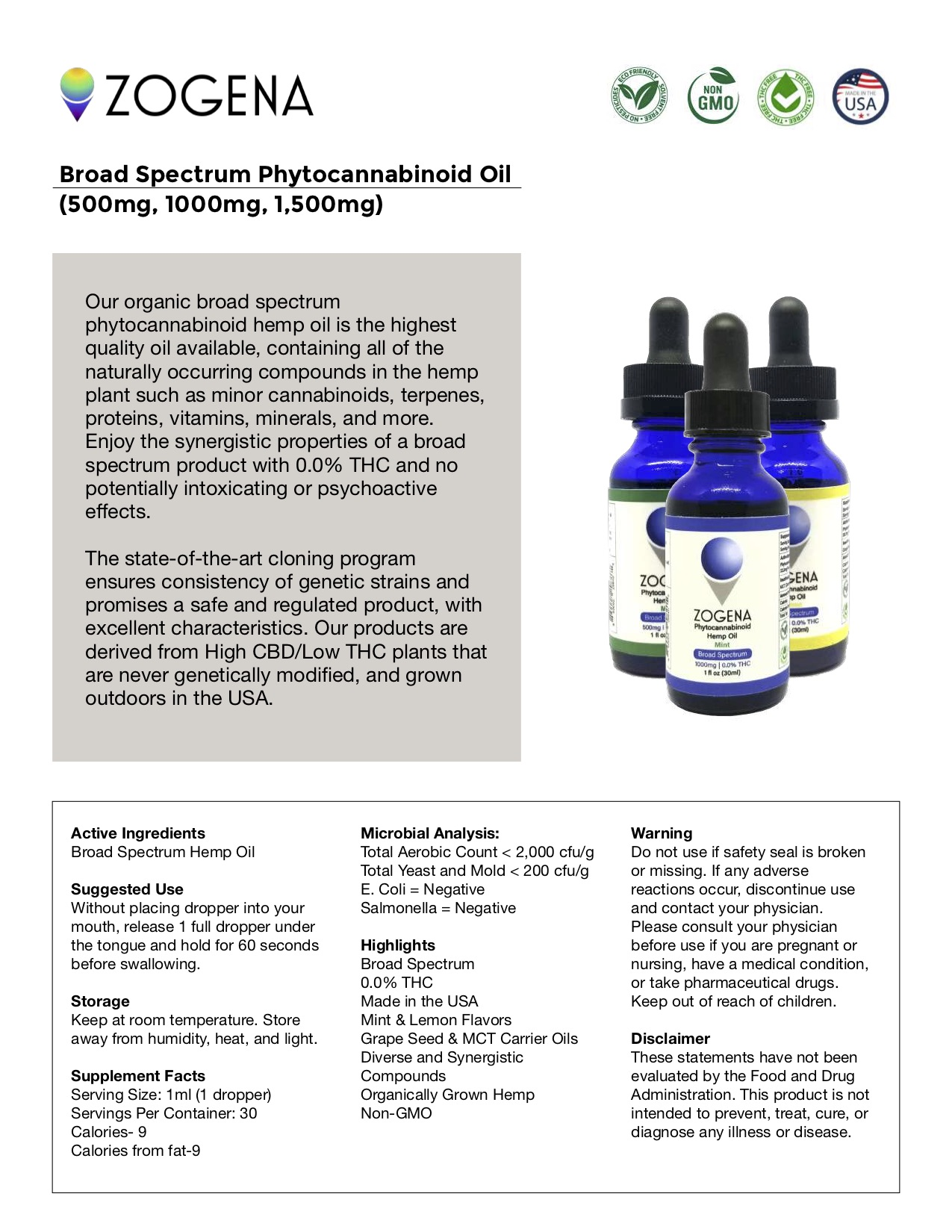 Zogena Active Driven Terpenes Oil