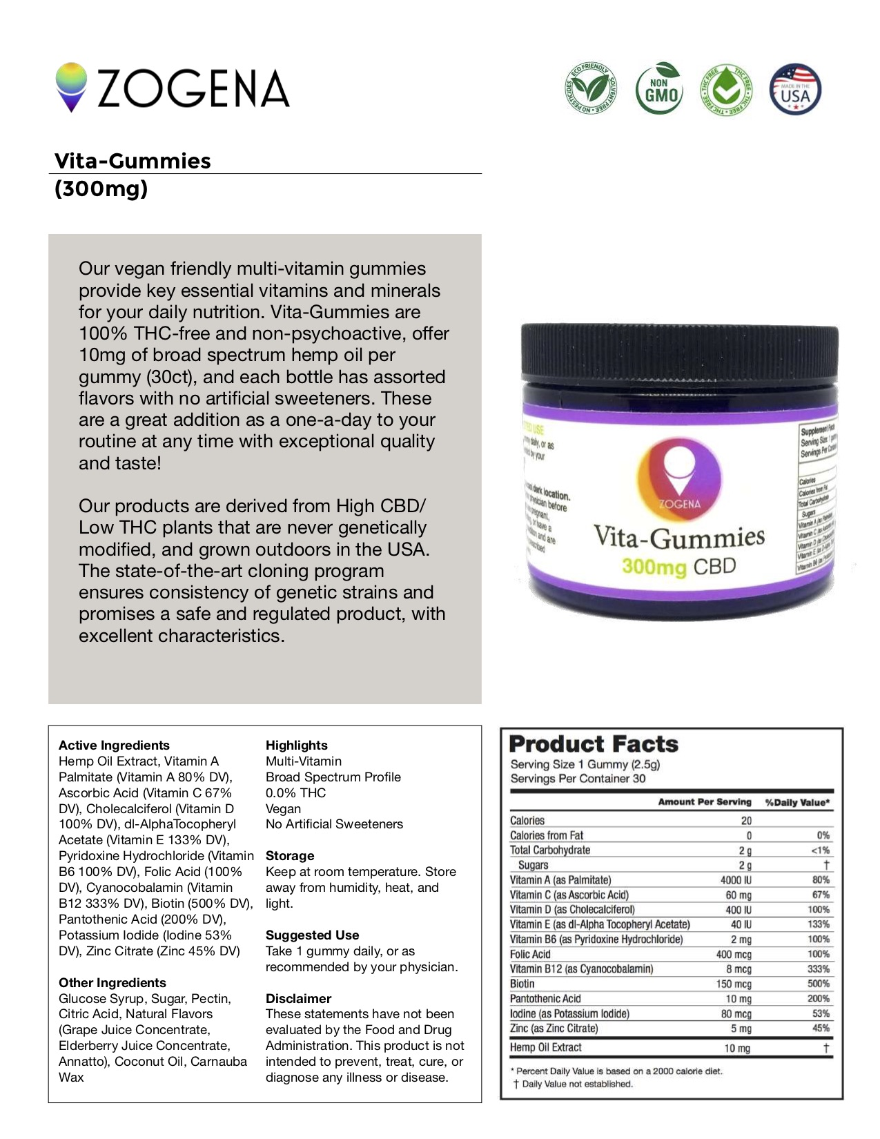 Active Driven Terpenes Vita-Gummies